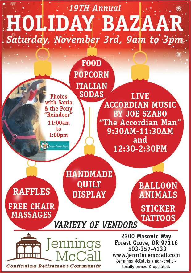 18 oct 19th annual holiday bazaar